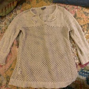 Eddie Bauer tan sweater.
